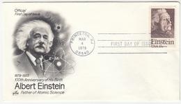 USA, 100th Anniversary Of Albert Einstein 1979 FDC Princeton Pmk B170330