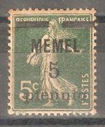 Memel 1920,5pf On 5c,Sc 18,VF Mint Hinged* (A-7) - Memel (1920-1924)