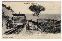 La Turbie. Chemin De Fer à Crémaillère. (1354) - Schienenverkehr