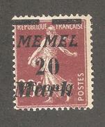 Memel 1922, 20m On 20pf On 20c,Sc 94,VF MLH*OG (A-6) - Unused Stamps
