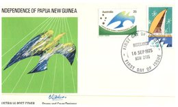 (153) Australia FDC Cover -  1975 - Papua New Guinea Independence - Premiers Jours (FDC)