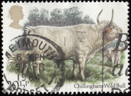 GREAT BRITAIN - Scott #1045 Chillingham Wild Bull / Used Stamp - 1952-.... (Elizabeth II)