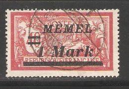 Memel 1922, 1 Mark ,Scott # 69 ,VF Used (A-6) - Oblitérés