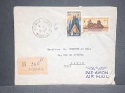 NOUVELLE CALÉDONIE. - Enveloppe En Recommandé De Nouméa Pour Paris En 1958- L 6537 - Nueva Caledonia