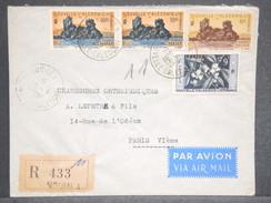 NOUVELLE CALÉDONIE. - Enveloppe En Recommandé De Nouméa Pour Paris En 1958 - L 6538 - Nueva Caledonia