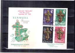 FDC Bermuda - Treasure - Complete Set (to See) - Bermudes