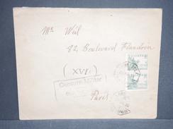 ESPAGNE - Enveloppe Pour Paris En 1935 , Censure De San Sébastian , Oblitération Ambulant - L 6541 - Marques De Censures Nationalistes