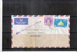 Cover From Bruma To Switzerland (to See) - Myanmar (Birmanie 1948-...)