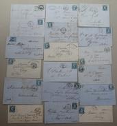 Lot De 38 Enveloppes - Lettres / Factures - Timbre Empire - Tampons Losange - Diverses Périodes - 1801-1848: Précurseurs XIX