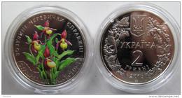 "Ukraine - 2 Grivna Coin 2016 ""Lady`s Slipper Orchid"" UNC - Ucraina"