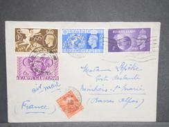 GRANDE BRETAGNE - Enveloppe De Wembley Pour La France En 1948 , Taxée , Affranchissement Jeux Olympiques - L 6547 - Briefe U. Dokumente