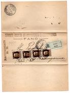 A0a - REGNO : Raccomandata R.r. Da FANO Del 8/6/1943 . Imperiale - 1900-44 Vittorio Emanuele III