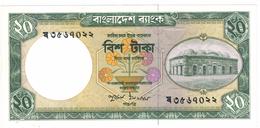 Bangladesh 20 Taka,  UNC.  Free S/H To USA - Bangladesh