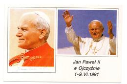 Tarjeta Postal  Juan PAblo II Con Matasellos De 1991.  Tematica PAPAL. - Pausen