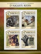 Djibouti - Postfris / MNH - Sheet Auguste Rodin 2017 - Djibouti (1977-...)