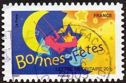 Oblitération Cachet à Date Sur Autoadhésif De France N°  249 Ou 4318 - Message 2008 - Bonnes Fêtes - Etoile - Lune ... - Luchtpost