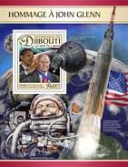 Djibouti - Postfris / MNH - Sheet John Glenn 2017 - Djibouti (1977-...)