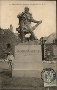 35 - SAINT-MALO - Statue Jacques Cartier - Sculpteur Derrière ? - Saint Malo