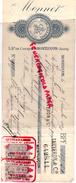 03 - MONTLUCON - TRAITE MONNET- 5 BD COURTAIS- QUINCAILLERIE CLOUTERIE METAUX- 1899 - France