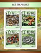 Djibouti - Postfris / MNH - Sheet Slangen 2017 - Djibouti (1977-...)