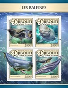 Djibouti - Postfris / MNH - Sheet Walvissen 2017 - Djibouti (1977-...)