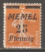 Memel 1922,25pf On 5c,Sc 56,VF Mint Hinged* L2 (A-7) - Memel (1920-1924)