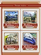 Maldiven / Maldives - Postfris / MNH - Sheet Stoomtreinen 2017 - Maldiven (1965-...)