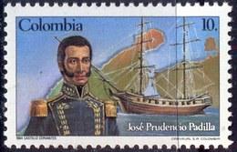 COLUMBIA - ADMIRAL  PADILLA - WARSHIP - **MNH - 1985 - Barche