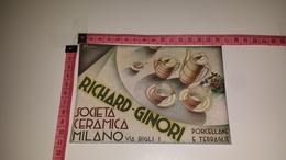 CO-6706 MILANO SOCIETÀ CERAMICA RICHARD - GINORI ILLUSTRATORE R. DI MASSA ILLUSTRATA PUBBLICITÀ - Oude Documenten