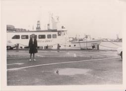"""SAINT - MALO - Bateau """" BELLE De JERSEY """" Dans Le Port De St Malo. ( Format 9 X 12,5 ). - Barcos"""