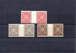 Côte D'Ivoire YT Taxe 10-12 En Paire Avec Pont XX/MNH - Unused Stamps