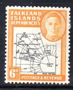 XP2999 - FALKLAND ISLANDS DEPENDENCIES , 6 Penny Nero E Arancio  * - Falkland