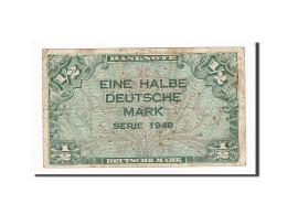 République Fédérale Allemande, 1/2 Deutsche Mark, 1948, KM:1a, 1948, TB - [ 5] Ocupación De Los Aliados