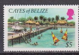 1984 Cayes Of Belize - Definitives High Value 1v., Ile, Boats, Island, Cay , Scott 9 Michel 13 MNH