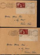 YT 341 342 Descartes Discours De La Méthode 1637 Seul Sur Lettre Bord Coin De Feuille Auxerre Yonne 2 Lettres - Storia Postale