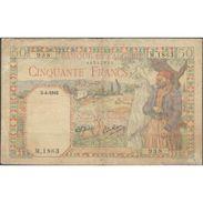 TWN - ALGERIA 87 - 50 Francs 3.4.1945 M.1863 - 938 VG/F - Algeria