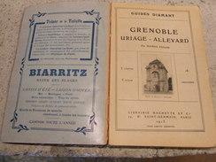 Guides Diamant 1913 GRENOBLE -URIAGE- ALLEVARD + Cartes Gravures Photos - Tourisme