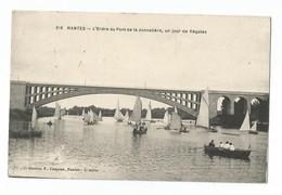 Nantes L'Erdre Au Pont De La Jonnelière Un Jour De Régates - Nantes