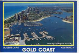 GOLD COAST - Aerial View Over Spit Marina To Surfers Paradise,  Nice Stamp, Large Format - Gold Coast
