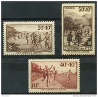 France (1937) N 345 à 347 * (charniere) - France