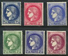 France (1938) N 372 à 376 * (charniere) - France