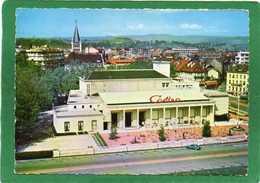 74 - Annecy - Le Casino Et Le Théâtre,couleur -CPSM  Grd Format Année 1963 Editeur: Globe N° 3 (vue Aérienne) - Annecy