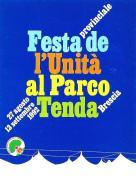 [MD0908] CPM - FESTA NAZIONALE DELL'UNITA' AL PARCO TENDA - BRESCIA 1992 - NV - Eventi