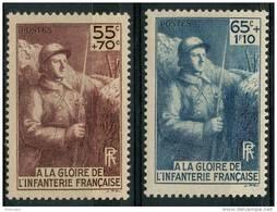France (1938) N 386 à 387 * (charniere) - France