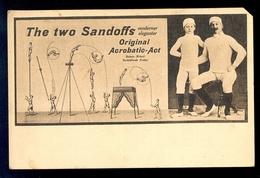 The Two Sandoffs Moderner Eleganter Original Acrobatic-Act / Postcard Circulated, 2 Scans - Gimnasia