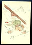 Humor - Skiing Accident / Postcard Circulated, 2 Scans - Künstlerkarten