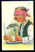 Humor - Fish For Diner / Postcard Circulated, 2 Scans - Künstlerkarten
