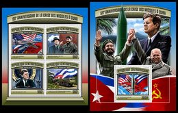 CENTRAL AFRICA 2017 - Cuban Missile Crisis, M/S + S/S Official Issue - History