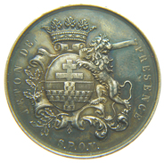BELGIQUE - VILLE De YPRES - JETON / TOKEN De PRESENCE En Argent (1864) / 32 Mm - Belgio