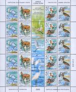 Yugoslavia 2005 Protected Animal Species Sheet Of 5 Sets, MNH (**) Michel 3231-3234 - Blocks & Sheetlets